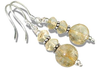 Design 11906: yellow citrine earrings