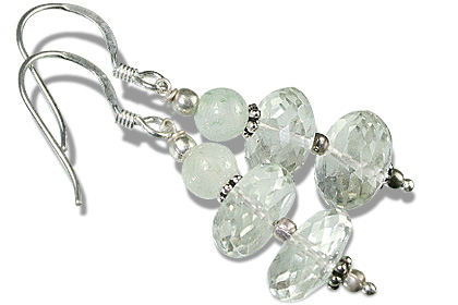 Design 11910: green green amethyst earrings