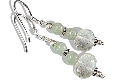 Design 11920: Green green amethyst ethnic earrings