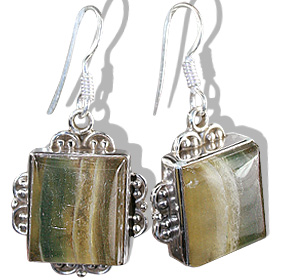 Design 11970: multi-color fluorite american-southwest, ethnic earrings