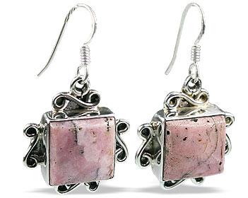 Design 11975: pink rhodocrosite american-southwest earrings