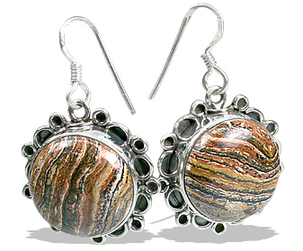 Design 12011: brown jasper american-southwest, ethnic earrings
