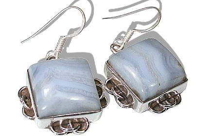 Design 12016: blue agate american-southwest earrings