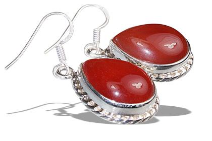 Design 12028: red carnelian american-southwest, drop earrings