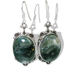 Design 12077: black,gray jasper american-southwest, ethnic earrings