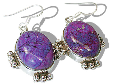 Design 12117: blue,purple mohave american-southwest earrings