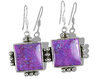 Design 12120: blue,purple mohave american-southwest earrings