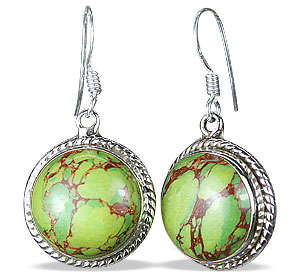 Design 12129: brown,green mohave american-southwest earrings