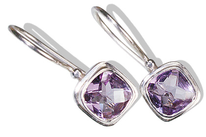 Design 12173: purple amethyst estate earrings