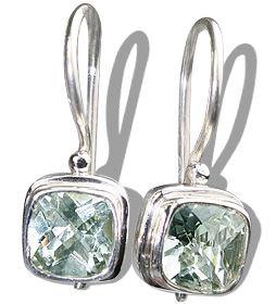 Design 12174: green green amethyst estate earrings