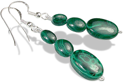 Design 12192: green malachite earrings