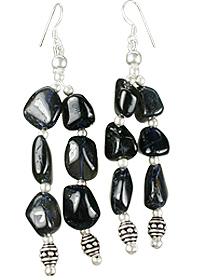 Design 12196: blue iolite ethnic earrings