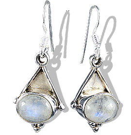 Design 12270: White moonstone ethnic earrings