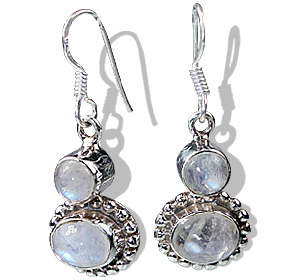 Design 12273: white moonstone earrings