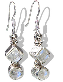 Design 12277: white moonstone earrings