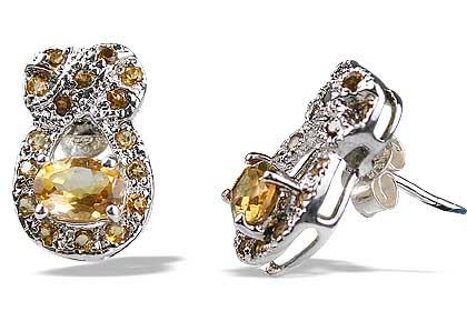 Design 12556: yellow citrine estate, post earrings