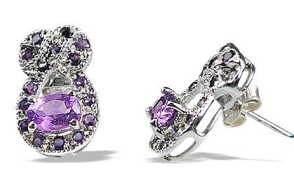 Design 12557: purple amethyst estate, post earrings