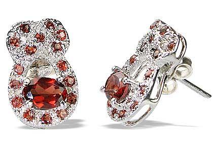 Design 12558: red garnet estate earrings