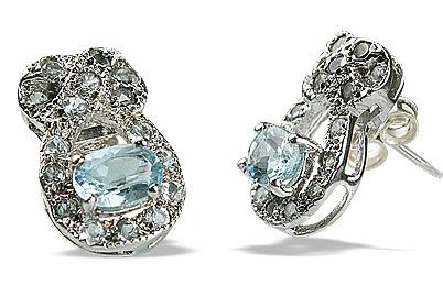 Design 12559: blue blue topaz estate, post earrings