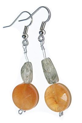 Design 12621: orange carnelian earrings