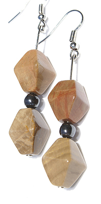 Design 12664: brown mookite earrings