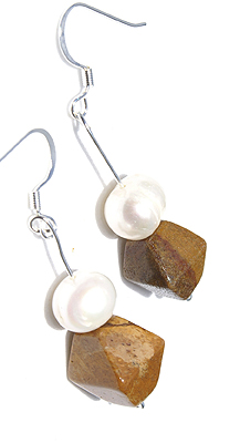 Design 12665: brown mookite earrings