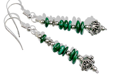 Design 12773: green malachite earrings