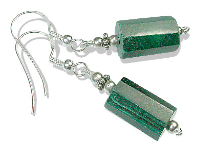 Design 12775: green malachite earrings
