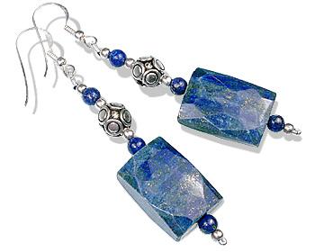 Design 12785: blue lapis lazuli chunky earrings