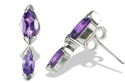 Design 12807: purple amethyst engagement earrings