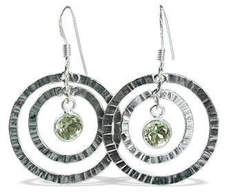 Design 12836: green green amethyst art-deco earrings
