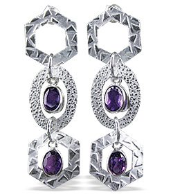 Design 12923: blue iolite earrings