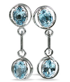Design 12994: blue blue topaz contemporary, post earrings