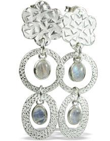 Design 13001: white moonstone contemporary, post earrings