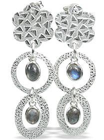 Design 13006: blue,green labradorite contemporary, post earrings