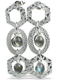 Design 13007: blue,green labradorite contemporary earrings