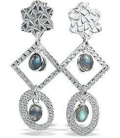 Design 13008: blue,green labradorite contemporary, post earrings