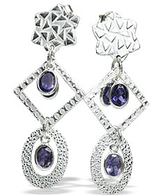 Design 13009: blue iolite contemporary, post earrings