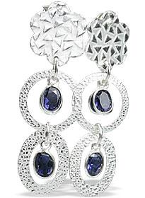 Design 13010: blue iolite contemporary, post earrings