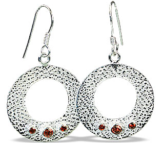 Design 13116: red garnet ethnic earrings
