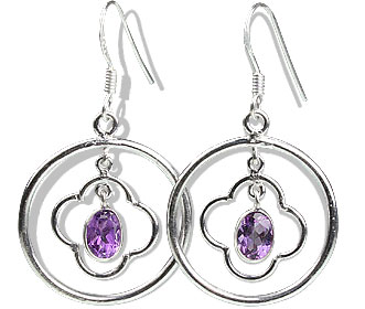 Design 13125: purple amethyst contemporary earrings