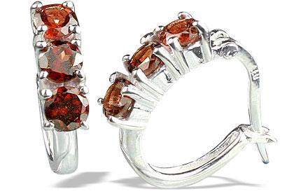 Design 13128: red garnet contemporary earrings