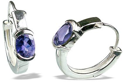 Design 13131: blue iolite contemporary earrings