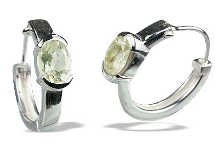 Design 13137: green green amethyst contemporary, hoop earrings