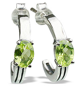 Design 13153: green peridot contemporary earrings