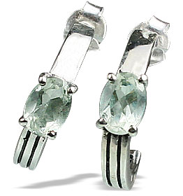 Design 13155: green green amethyst contemporary, post earrings