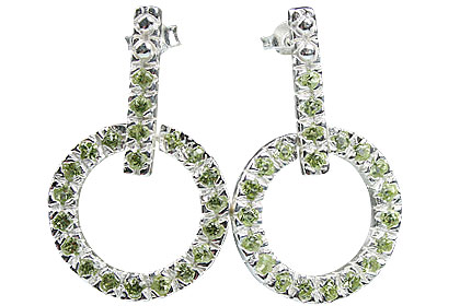 Design 13211: green peridot post earrings