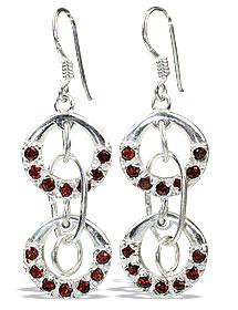 Design 13221: red garnet drop earrings