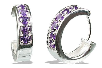 Design 13229: red amethyst hoop earrings