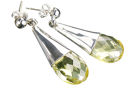 Design 13411: yellow lemon quartz brides-maids earrings